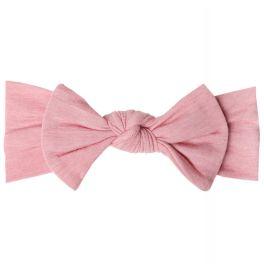 Copper Pearl Knit Headband Bow - Darling