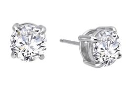 Lafonn Sterling Silver Stud Earrings - 4.00 CTTW