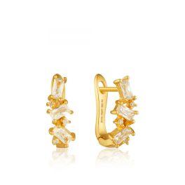Ania Haie Cluster Huggie Earrings - Gold Plated
