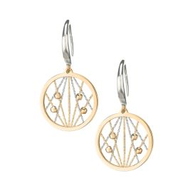 Sterling Silver Yellow Gold Plated Ophilia Earrings