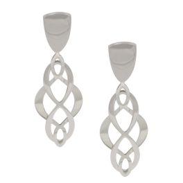 Frederic Duclos Sterling Silver Celtic Swirl Earrings