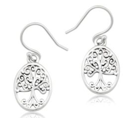 Southern Gates Oval Tree Earrings