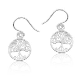 Southern Gates Tiny Round Oak Tree Earrings