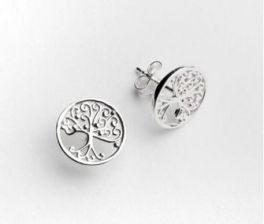 Southern Gates Round Oak Tree Stud Earrings