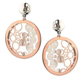 Sterling Silver And Rose Gold Plated Bubbles Galore Earrings