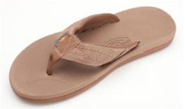 Men's Size 8 Brown East Cape Rainbow Flip-Flops