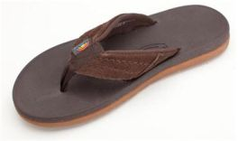Men's Size 7 Dark Brown East Cape Rainbow Flip-Flops