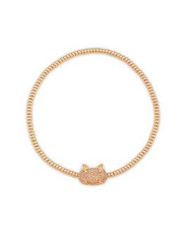 Kendra Scott Grayson Rose Gold Cat Stretch Bracelet in Sand Drusy