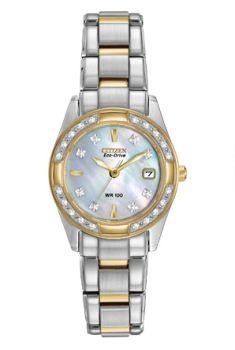 Ladies Silver Diamond Bezel Regent Citizens Watch