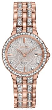 Ladies Silhouette Crystal Eco-Drive Watch