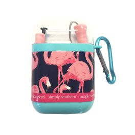 Simply Southern Silicone Travel Straw - Flamingo