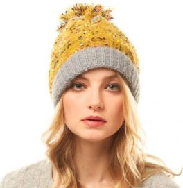 Top This Off Confetti Beanie - Mustard