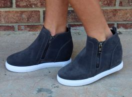 Known By All Wedge Sneaker - Gray