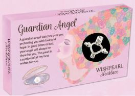 Wish Pearl Necklace - Guardian Angel