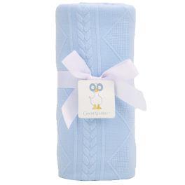 Blue Knit Blanket