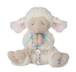 Serenity Lamb With Cross - Boy