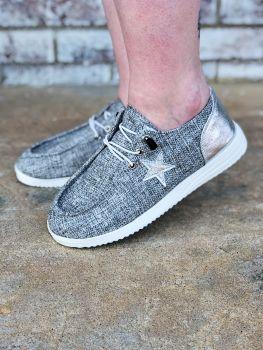 Stars In Your Eyes Slip-On Sneakers - Grey
