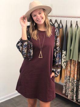 Second Chance Dress - Burgundy