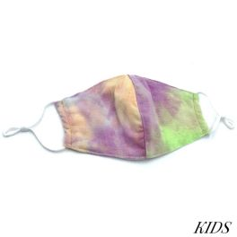 Kids Adjustable Face Mask - Purple Tie-Dye