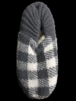 Simply Southern Slipper Socks - Grey Plaid
