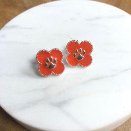 Clemson University Adele Quatrefoil Stud Earrings