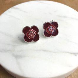 South Carolina Gamecocks Adele Quatrefoil Stud Earrings