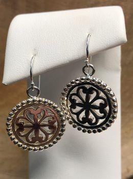 Southern Gates Beaded Heart Scroll Dangle Earrings