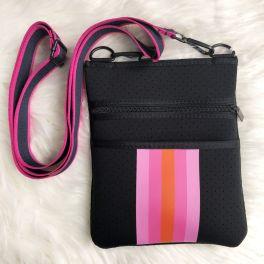 Making My Way Neoprene Crossbody Bag - Black