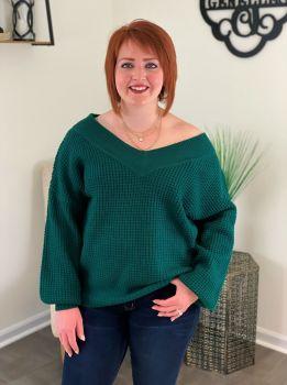 Talk That Talk Sweater - Green