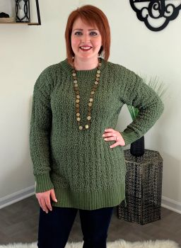 Warm Hearts Sweater - Olive