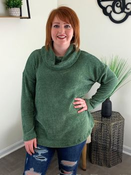 Cool And Casual Top - Olive