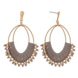 It's No Secret Earrings - Gold/Grey