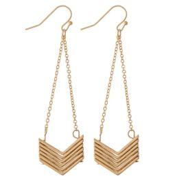Rain Starts To Fall Earrings - Gold