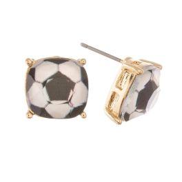 Soccer Mom Earrings - Gold Soccer