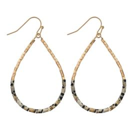 Wrapped In You Earrings - Gold Dalmatian