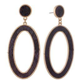 That's A Wrap Earrings - Gold/Black