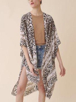 The Angela Kimono - Leopard