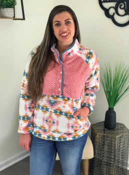 Simply Southern Tribal Sherpa - Pink