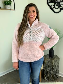 Simply Southern Piped Sherpa - Pink