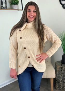 Simply Southern Overlap Sweater - Cream