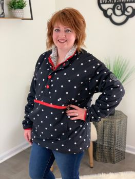 Simply Southern Reversible Pullover - Dots/Grey