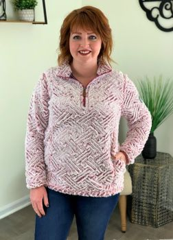 Simply Southern Weave Sherpa - Maroon