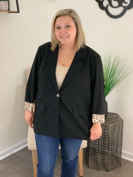 Fell In Love Plus Jacket - Black