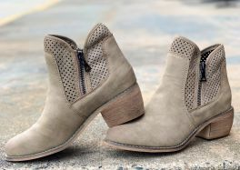 Keep On Walking Booties - Taupe