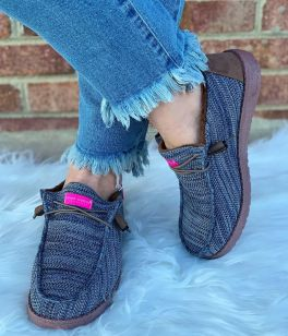 Simply Southern Slip On Sneakers - Denim