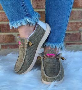 Simply Southern Slip-On Sneakers - Tan