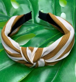 More Than Love Headband - Gold/Ivory