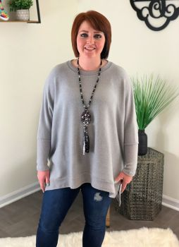 The One For Me Top - Heather Gray