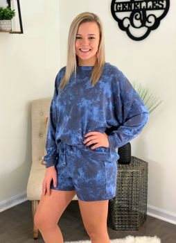 Relax And Unwind Loungewear Set - Blue