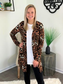 Forever Wild Cardigan - Ivory Brown